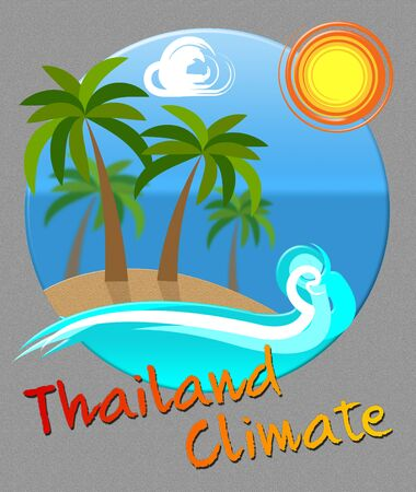 forecasts: Thailand Climate Beach Scene Means Thai Weather In Asia