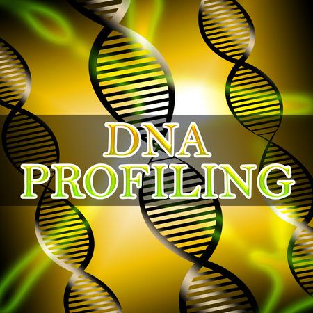 profiling: Dna Profiling Helix Shows Genetic Fingerprinting 3d Illustration