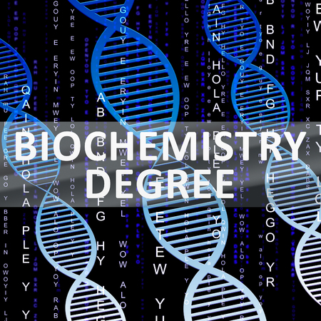 qualification: Biochemistry Degree Helix Shows Biotech Qualification 3d Illustration
