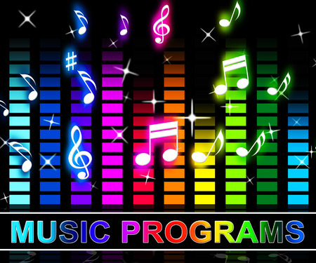 Music Programs Equalizer Notes Means Song Applications Or Software