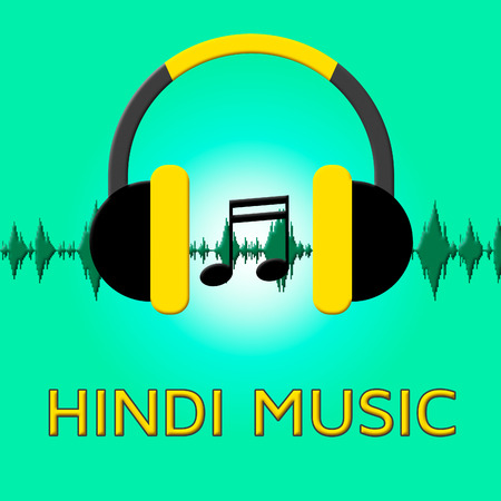 Hindi Music Headphones Sound Shows Song Soundtrack 3d Illustration