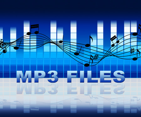 Mp3 Files On Equalizer Background Means Music Downloads From Internet