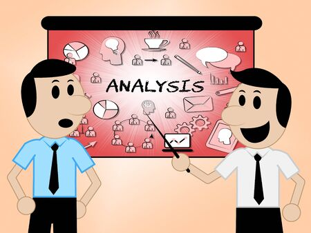 investigating: Analysis Icons Characters Representing Data Analytics And Analyse 3d Illustration