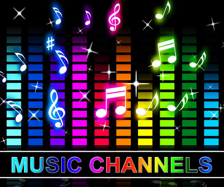 Music Channels Equalizer Notes Means Radio Songs And Broadcasting