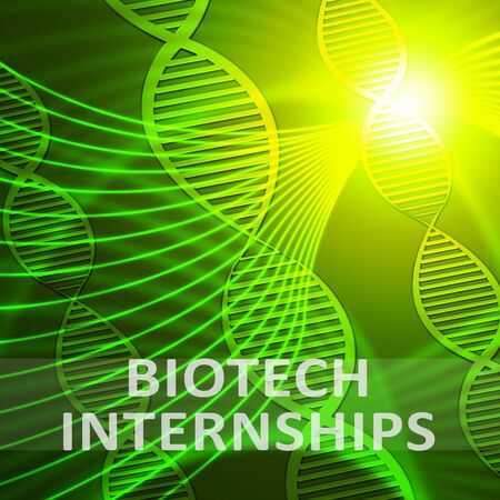 apprenticeship: Biotech Internship Helix Meaning Biotechnology Training 3d Illustration