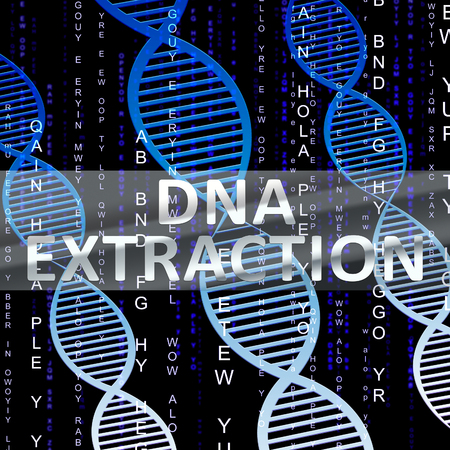isolation: Dna Extraction Helix Shows Genetic Isolation 3d Illustration