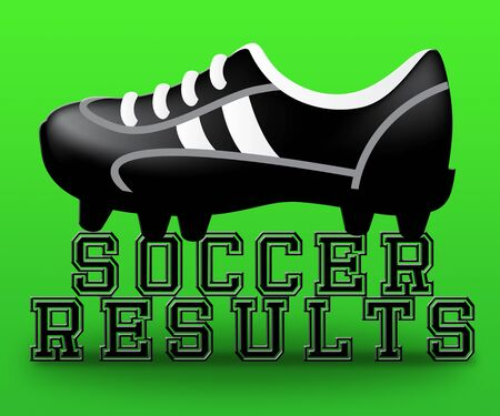 Soccer Results Boot Meaning Football Scores 3d Illustration