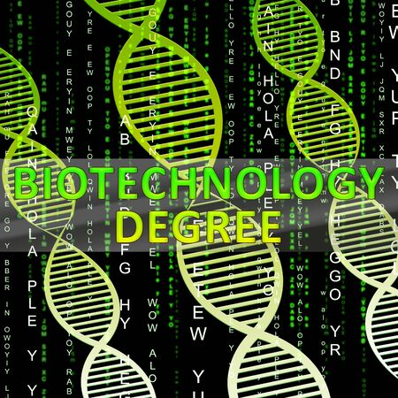 qualification: Biotechnology Degree Helix Shows Biotech Qualification 3d Illustration Stock Photo