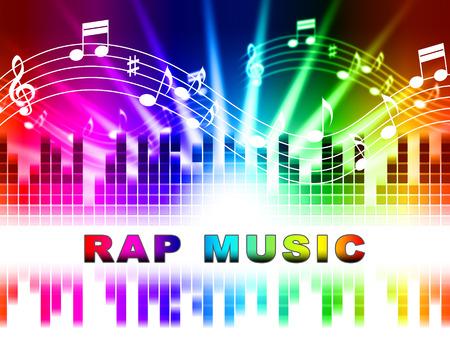 music lyrics: Rap Música Notas Diseño Indicando Sound Tracks y el canto