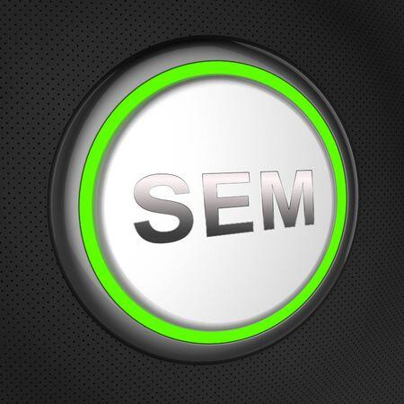 Sem Button Meaning Sales Promotion 3d Illustration Stock Photo