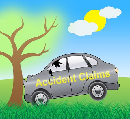 insured: Accident Claims Crash Showing Policy Claim 3d Illustration