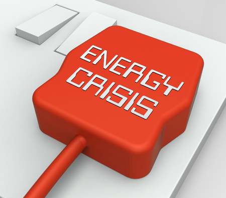 calamity: Energy Crisis Plug In Socket Shows Power Disaster 3d Rendering Stock Photo