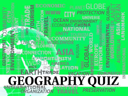 Geography Quiz Map Shows Planet Questions Or Test