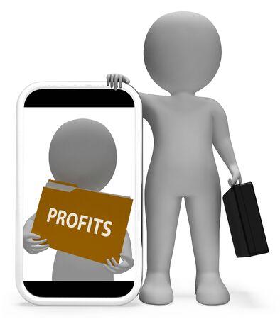 profiting: Profits Folder Means Representing Organization File 3d Rendering
