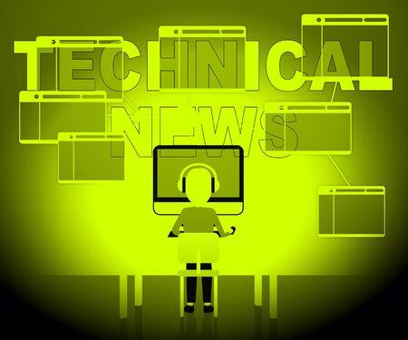 hi tech: Technical News Character Representing Hi Tech Media 3d Illustration