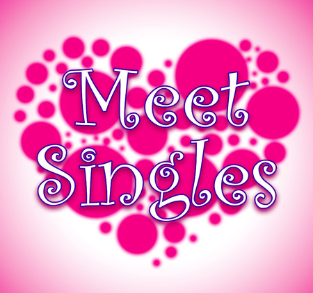 Meet Singles Heart Circles Showing Met Togetherness And Adoration Stock Photo