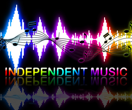 Independent Music Soundwaves Shows Sound Tracks And Indie