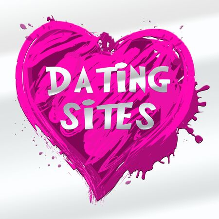 Dating Sites Heart Design Indicates Find Love 3d Illustration Stock Photo