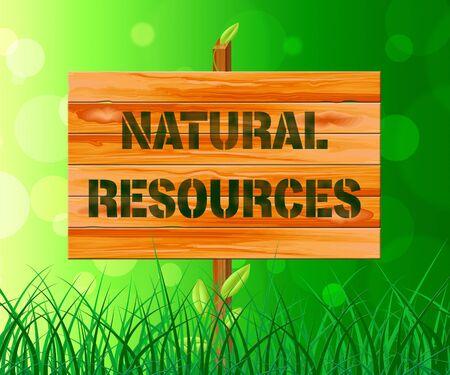 recursos naturales: Recursos naturales sesión en hierba Muestra Activos Naturaleza 3d ilustración Foto de archivo