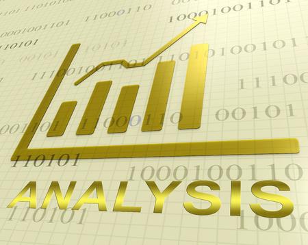 Analysis Graph Increasing Shows Data Analytics 3d Rendering