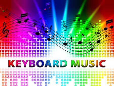Keyboard Music Notes Design Means Piano Audio Rhythm