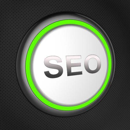 Seo Button Meaning Search Engine Optimization 3d Illustration