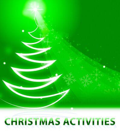 Christmas Activities Snow Scene Means Xmas Plans 3d Illustration Reklamní fotografie