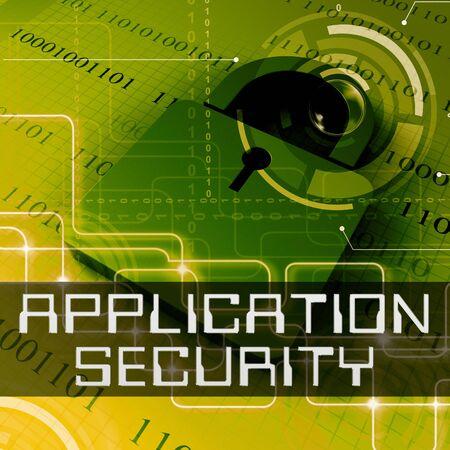 Application Security Data Padlock Shows Program Protection 3d Rendering