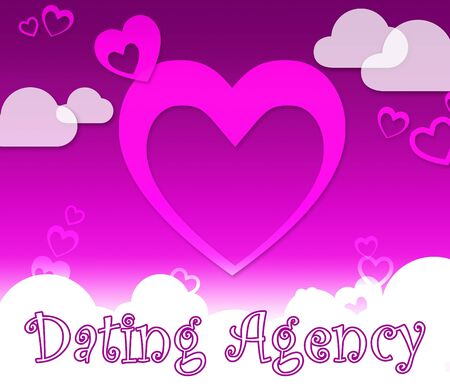 Dating Agency Hearts Represents Love Lover And Service Reklamní fotografie