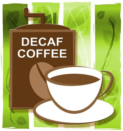 decaf: Decaf Coffee Cup Represents Restaurant Cafeteria And Drinks