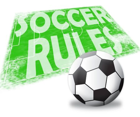 protocol: Soccer Rules Pitch Shows Football Regulations 3d Illustration
