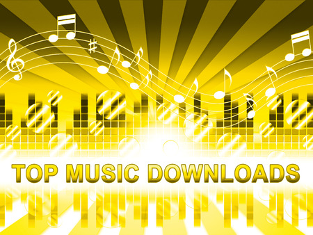 soundtrack: Top Music Downloads Design Means Hit Parade Songs