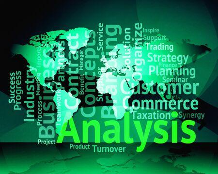 Analysis Word World Map Representing Data Analytics And Analyse
