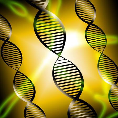 cromosoma: Mostrando hélice del ADN Cromosoma Genética Ilustración 3d Foto de archivo