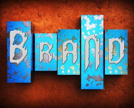 branded: Brand Word Showing Trademarks Branding 3d Illustration Stock Photo