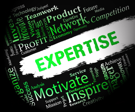proficient: Expertise Words Indicates Proficient Skills And Experience