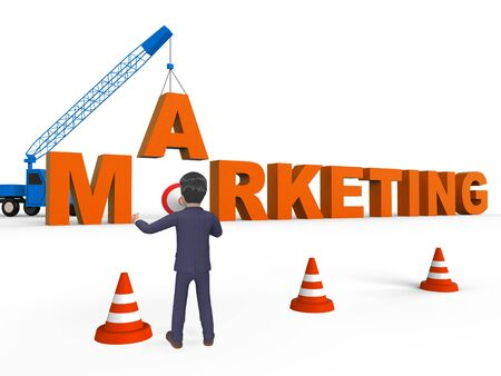 Do Marketing Character Meaning Seo Sales 3d Rendering Stock Photo