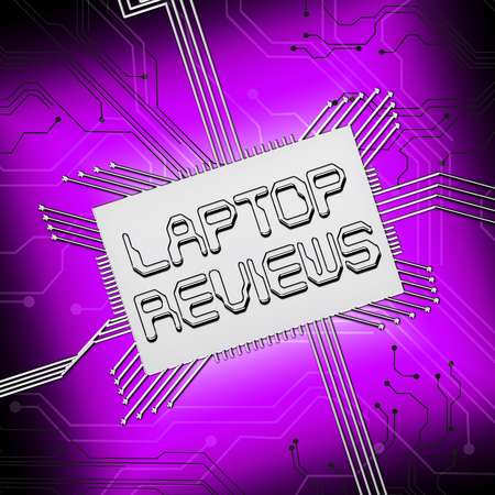 reviewed: Laptop Reviews Cpu Shows Laptops Comparison 3d Illustration Stock Photo