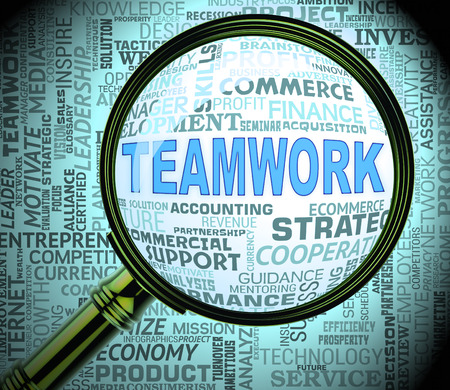 Teamwork Magnifier Meaning Magnification Search And Organized 3d Rendering