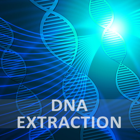 Dna Extraction Helix Showing Genetic Isolation 3d Illustration Stock Photo
