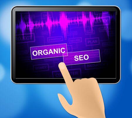 Organic Seo Tablet Indicating Search Engine Website Optimization 3d Illustration