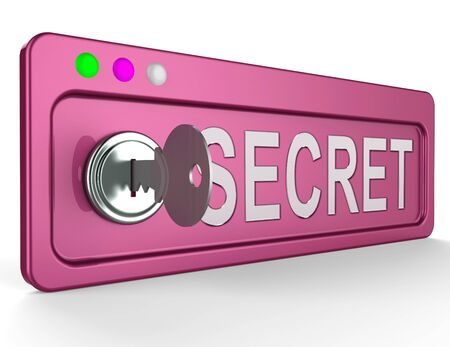 top secret: Secrecy Lock And Key Represents Top Secret 3d Illustration