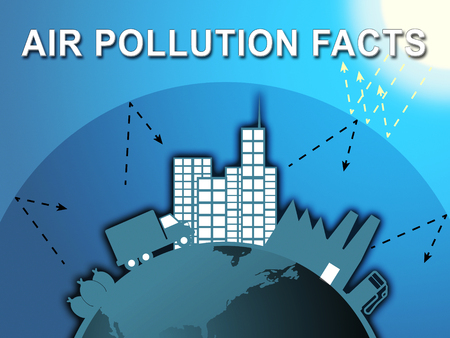 Air Pollution Facts Around City Means Dirty Atmosphere 3d Illustration