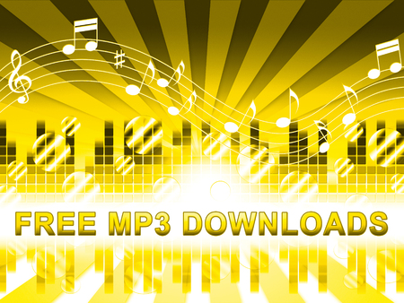 Free Mp3 Downloads Design Shows No Cost Music
