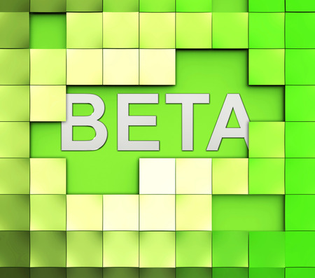 versions: Beta Software Word Indicating Demo Download And Trial