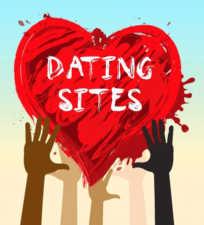 Hands Holding Dating Sites Heart Indicates Find Love 3d Illustration Stock Photo