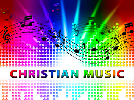 Christian Music Notes Design Shows Religious Soundtracks And Acoustic