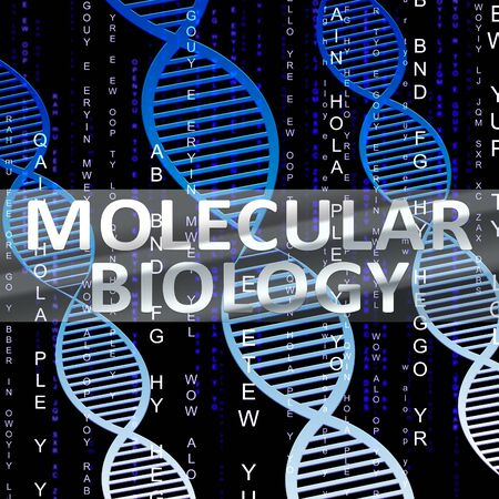 molecular biology: Molecular Biology Helix Shows Dna Research 3d Illustration
