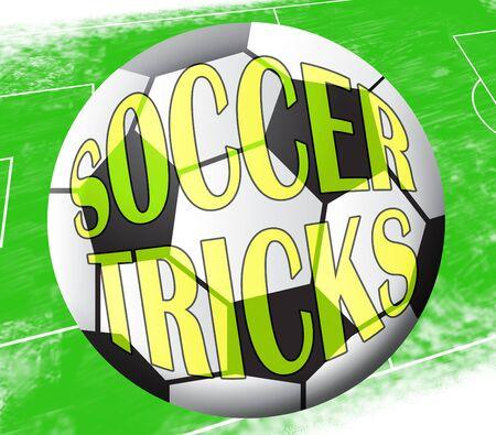 feats: Soccer Tricks Ball Showing Football Skills 3d Illustration