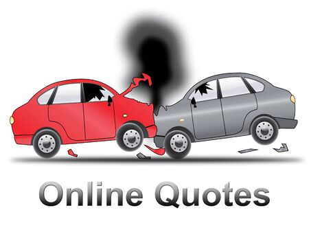 insured: Online Quotes Crash Shows Car Policy 3d Illustration